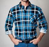 Camicia in cotone flanella stampata.