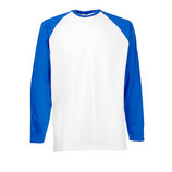 T-shirt Baseball bicolore manica lunga mod. 610280