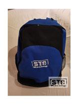 Rucksack mit STC Racing Logo blau/schwarz