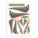 Aufkleber Set Italienische Zielflagge