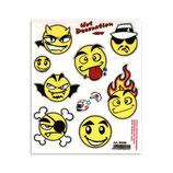 Aufkleber Set Emoticons