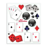 Aufkleber Set Spielkarten + Würfel