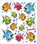 Aufkleber Set Piranhas