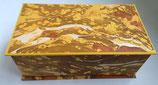 Cofanetto in carta marmorizzata con i toni del giallo