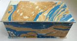 Cofanetto in carta marmorizzata con i colori del mare