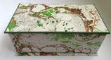 Cofanetto in carta marmorizzata con i colori della nostra terra