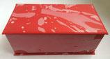 Cofanetto in carta marmorizzata rossa