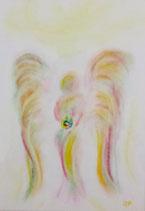Engel des Regenbogens (mit Glasrahmen)