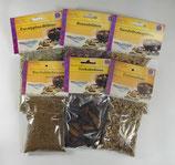 Duftende Hölzer und Kräuter zum Räuchern, ges. ca. 300 Gramm (PAKET 1)