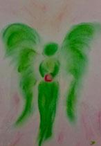 Engel der Liebe und Freiheit (mit Glasrahmen)