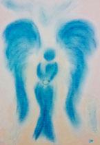 Engel des Vertrauens (mit Glasrahmen)
