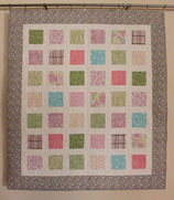 Shabby Shic Quilt in pastel squares