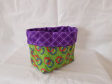 Pouch small green/pink circles