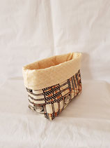 Pouch small beige/african style