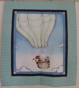 Bunny and Friends Balloon ride   Kids Quilt