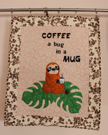 Coffee... Sloth -Wallhanging Quilt
