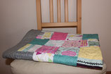 Funky Baby Quilt in pastel squares