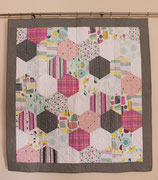 Large Hexagons funky -larger Quilt