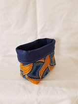 Pouch small yellow/blue indigenous style