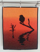 Sunset Bird Art Quilt