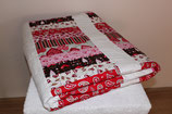 Stacked Coins Quilt red/pink