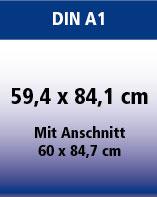Plakate DIN A1 -auch als Hohlkammerplakat PP-Kunstoff 450gr. erhältlich