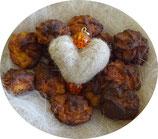 Herz- Schlüsselanhänger orange Perlen