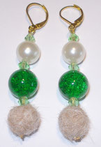 Ohrringe Frisco grün mit Perle
