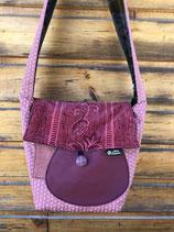 Grand sac Janis rose et velours