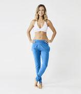 Organic Yoga Hose Blitzblau