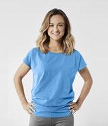 Organic Yoga Shirt Blitzblau