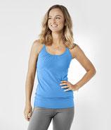Organic Yoga Trägertop Blitzblau