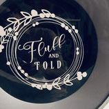 """Beschriftung """"Fluff and Fold"""""""