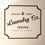 """Beschriftung Türe """"Laundry Co."""""""
