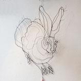 Drahtobjekt Hase