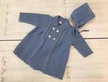 Abrigo con capota azul. (ref. 390), talla 36 meses