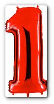 "Folienzahl 40"" / 100 cm rot, ohne Helium"