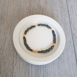 Armband grau-braun-gold