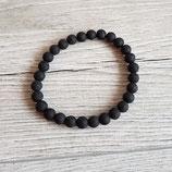 Armband schwarz Lavaoptik
