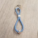 Schlüsselanhänger Anker weiß-blau