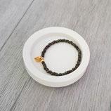 Armband Miyuki-Perlen mit Anhänger Herz