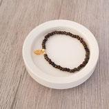 Armband Miyuki-Perlen mit Anhänger Blatt