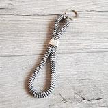 Schlüsselanhänger schwarz-weiß 2 Schlaufen