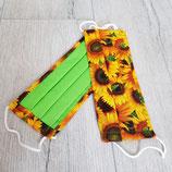 Mundschutz Sonnenblumen
