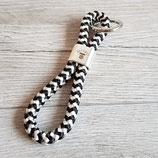 Schlüsselanhänger Kaffee schwarz-weiß
