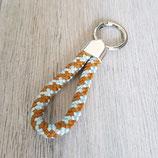 Schlüsselanhänger blau-braun