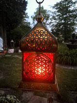Orientalisches Licht Blume des Lebens (Rotglas)