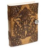 Notizbuch Elefant mit Ledereinband