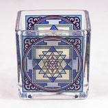 Teelichtglas Shri Yantra - Yggdrasil
