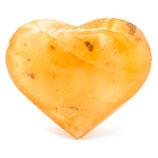 Handschmeichler Herz Selenit orange mittel